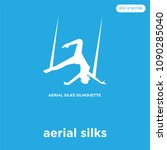 aerial silks vector icon... | Shutterstock .eps vector #1090285040