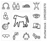 set of 13 simple editable icons ... | Shutterstock .eps vector #1090285370