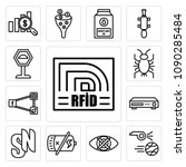 set of 13 simple editable icons ... | Shutterstock .eps vector #1090285484