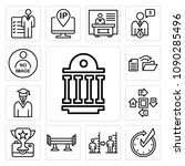 set of 13 simple editable icons ... | Shutterstock .eps vector #1090285496