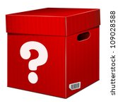 mystery red box with question... | Shutterstock .eps vector #109028588