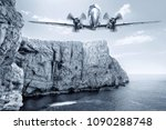 aircraft over the sea | Shutterstock . vector #1090288748