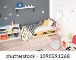 modern room interior with... | Shutterstock . vector #1090291268