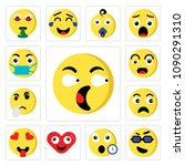 set of 13 simple editable icons ... | Shutterstock .eps vector #1090291310