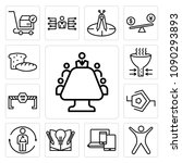 set of 13 simple editable icons ... | Shutterstock .eps vector #1090293893