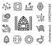 set of 13 simple editable icons ...   Shutterstock .eps vector #1090294184