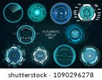 futuristic circles  full color...