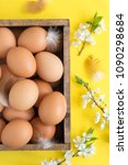 easter composition of eggs and... | Shutterstock . vector #1090298684