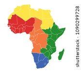 map of africa   Shutterstock .eps vector #1090299728