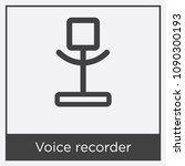 voice recorder icon isolated on ...   Shutterstock .eps vector #1090300193