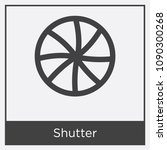 shutter icon isolated on white... | Shutterstock .eps vector #1090300268