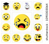 set of 13 simple editable icons ... | Shutterstock .eps vector #1090303064