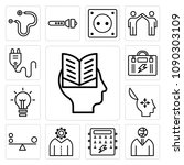 set of 13 simple editable icons ... | Shutterstock .eps vector #1090303109