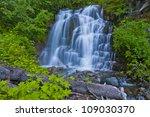 A Beautiful Waterfall At Mt...