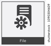 file icon isolated on white... | Shutterstock .eps vector #1090304609