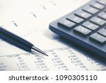 financial accounting stock... | Shutterstock . vector #1090305110