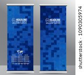 roll up business brochure flyer ...   Shutterstock .eps vector #1090305974