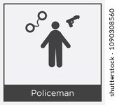policeman icon isolated on... | Shutterstock .eps vector #1090308560