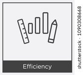 efficiency icon isolated on... | Shutterstock .eps vector #1090308668