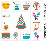 set of 13 simple editable icons ...   Shutterstock .eps vector #1090308959