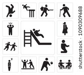 set of 13 simple editable icons ... | Shutterstock .eps vector #1090309688