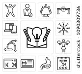 set of 13 simple editable icons ... | Shutterstock .eps vector #1090309736