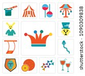 set of 13 simple editable icons ... | Shutterstock .eps vector #1090309838