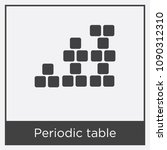 periodic table icon isolated on ... | Shutterstock .eps vector #1090312310