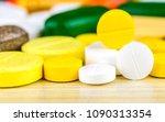 medicine pills or capsules on...   Shutterstock . vector #1090313354