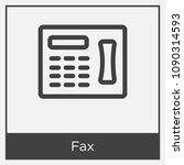 fax icon isolated on white... | Shutterstock .eps vector #1090314593