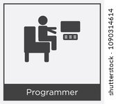 programmer icon isolated on... | Shutterstock .eps vector #1090314614
