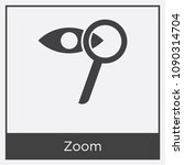 zoom icon isolated on white... | Shutterstock .eps vector #1090314704