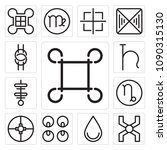 set of 13 simple editable icons ... | Shutterstock .eps vector #1090315130
