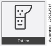 totem icon isolated on white... | Shutterstock .eps vector #1090319369