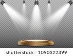 round podium  pedestal or... | Shutterstock .eps vector #1090322399