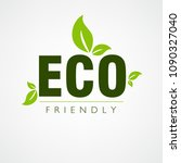 eco friendly vector... | Shutterstock .eps vector #1090327040