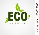eco friendly  vector... | Shutterstock .eps vector #1090327040