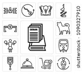 set of 13 simple editable icons ... | Shutterstock .eps vector #1090327910