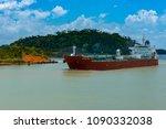 panama canal  panama  april 18  ...   Shutterstock . vector #1090332038