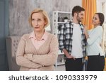 the third odd out. unpleased... | Shutterstock . vector #1090333979