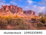 the superstition mountains are... | Shutterstock . vector #1090335890
