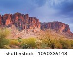 the superstition mountains are... | Shutterstock . vector #1090336148
