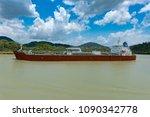 panama canal  panama  april 18  ...   Shutterstock . vector #1090342778