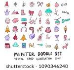 hand drawn sketch doodle vector ... | Shutterstock .eps vector #1090346240