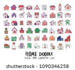 hand drawn sketch doodle vector ... | Shutterstock .eps vector #1090346258