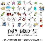 hand drawn sketch doodle vector ... | Shutterstock .eps vector #1090346264