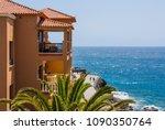 holyday summer time. orange...   Shutterstock . vector #1090350764