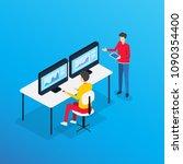 business analytics design... | Shutterstock .eps vector #1090354400