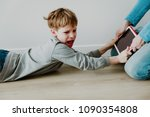 computer addiction  father... | Shutterstock . vector #1090354808