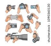camera vector professional... | Shutterstock .eps vector #1090360130
